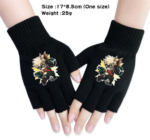 kacchan fingerless gloves