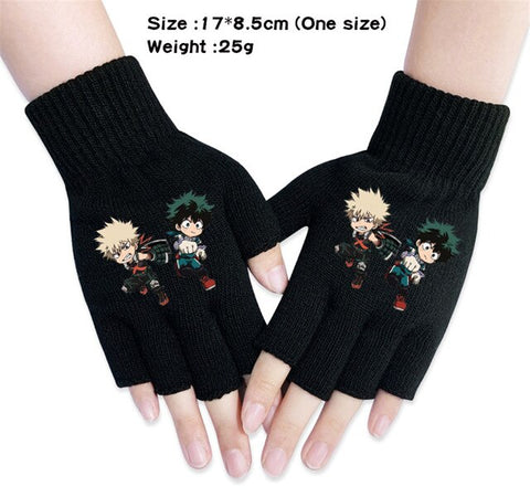 bnha fingerless gloves