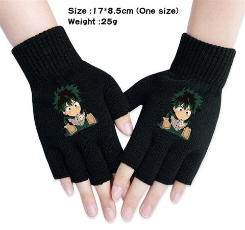 midoriya izuku fingerless gloves