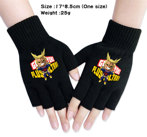 all might fingerless gloves