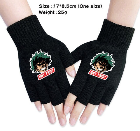 izuku fingerless gloves