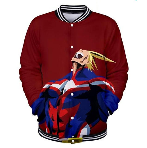 my hero academia all might varsity jacket