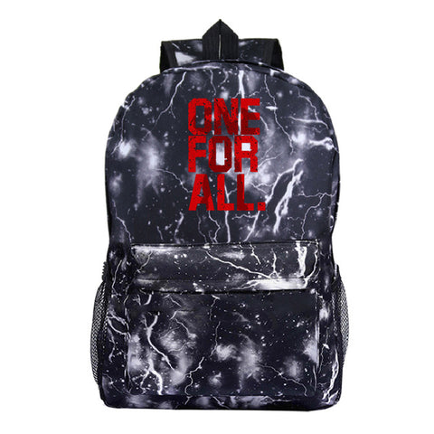 my hero academia one for all backpack
