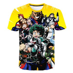 my hero academia heroes shirt