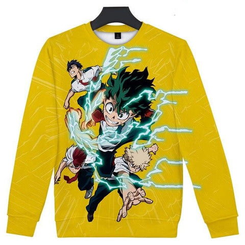 my hero academia deku sweatshirt