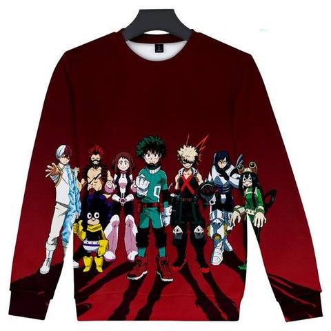 my hero academia long sleeve shirt