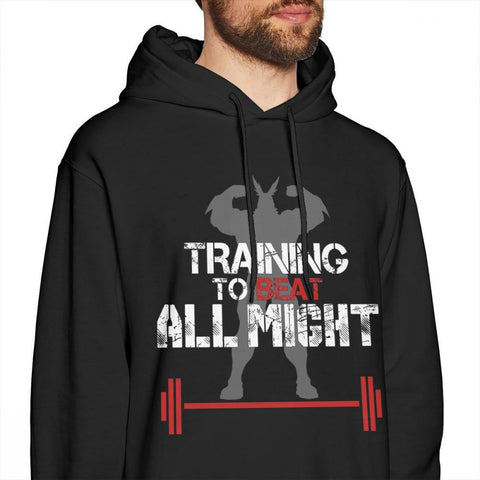 training to beat all might hoodie
