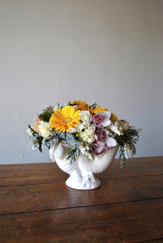 Arrangement in Retro Lynn Nautilus Vase