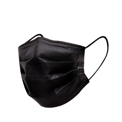 FaceShield® 3-Layer Disposable - 100 Black-Masks New Zealand | Free Shipping | Masks.co.nz
