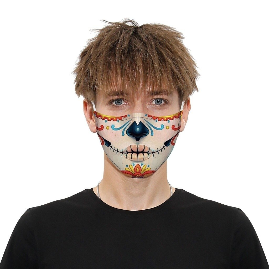 Faceshield® Funnies - Day of the Dead-Masks New Zealand | Free Shipping | Masks.co.nz