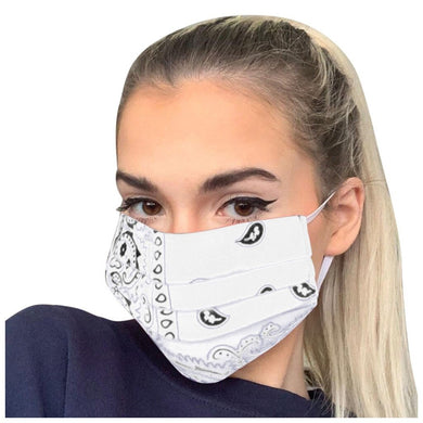 FaceShield® Bandana - White-Masks New Zealand | Free Shipping | Masks.co.nz