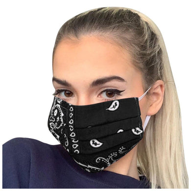 FaceShield® Bandana - Black-Masks New Zealand | Free Shipping | Masks.co.nz