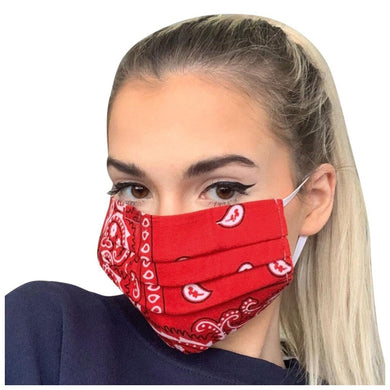 FaceShield® Bandana - Red-Masks New Zealand | Free Shipping | Masks.co.nz