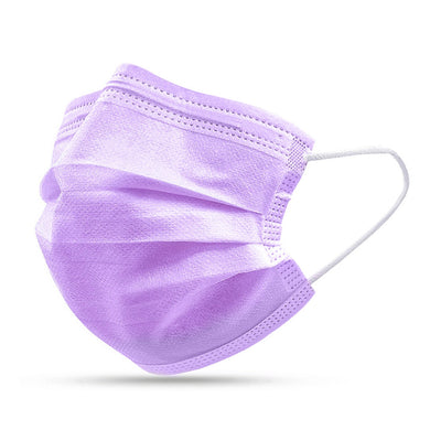FaceShield® 3-Layer Disposable - 100 Purple-Masks New Zealand | Free Shipping | Masks.co.nz