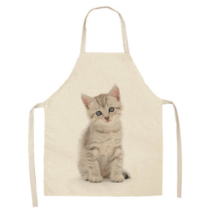 Kitchen Apron Funny Dog and Cat Print
