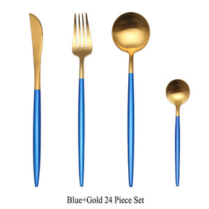 24pcs/set Stainless Steel Cutlery