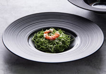 Load image into Gallery viewer, Black Disk Ceramic Tableware