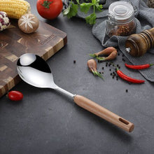 Load image into Gallery viewer, Stainless Steel Wooden Handle Cooking Tools