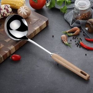 Stainless Steel Wooden Handle Cooking Tools
