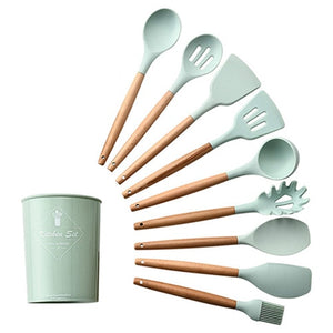 Non-stick Silicone Cooking Utensils Set With Storage Box