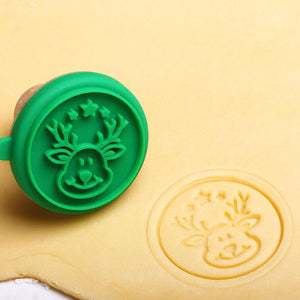 Christmas Silicone Cookie Stamp