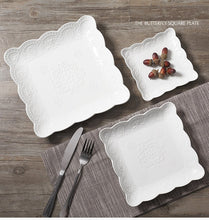 Load image into Gallery viewer, White Lace Bone-China Tableware