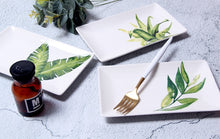 Load image into Gallery viewer, Green Plants Tropical Ceramics Plate
