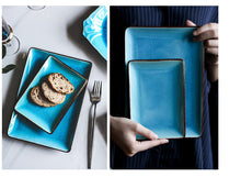 Load image into Gallery viewer, Mysterious Blue Glaze Ceramic Tableware