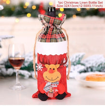 Load image into Gallery viewer, Wine Bottle Cover Christmas Decorations