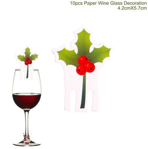 Wine Bottle Cover Christmas Decorations