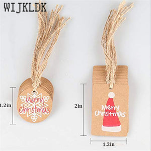 Merry Christmas Kraft Paper Tag