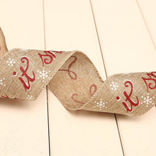 Load image into Gallery viewer, 200cm linen Christmas Ribbons