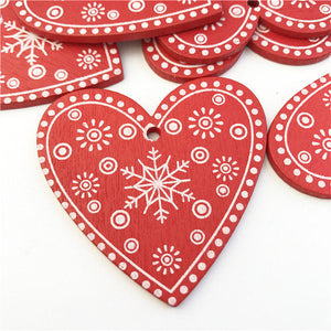 Wooden Christmas Hanging Ornaments