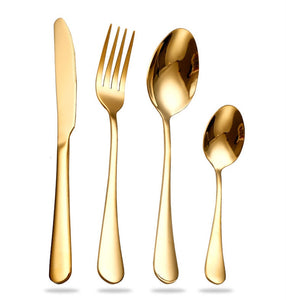 Gold Set Cutlery
