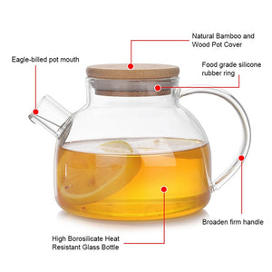 7pcs Heat Resistant Glass Teapot Set