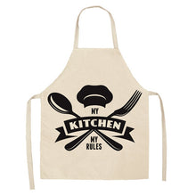 Load image into Gallery viewer, Creative Black and White Pattern Kitchen Aprons