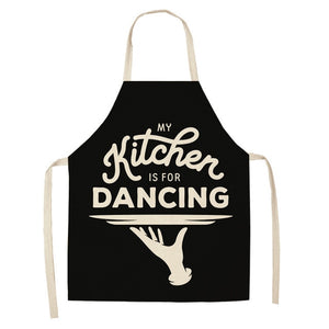 Creative Black and White Pattern Kitchen Aprons