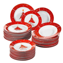 Load image into Gallery viewer, 36-Pieces Christmas Style Porcelain Ceramic Dinnerware Set