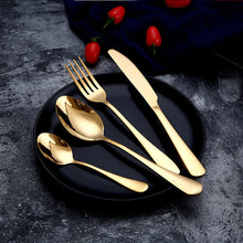 Load image into Gallery viewer, Gold Set Cutlery