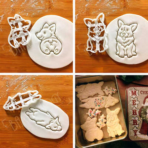 Cute Corgi Dog Shaped Cookie Cutters