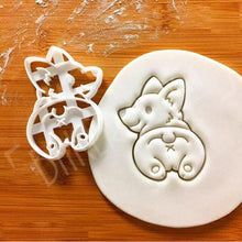 Load image into Gallery viewer, Cute Corgi Dog Shaped Cookie Cutters