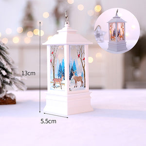 Christmas Candle With LED Decoration