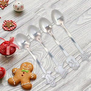 4 Pieces Of Christmas Style Teaspoon