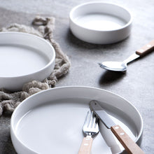 Load image into Gallery viewer, White Round Porcelain Serving Plate