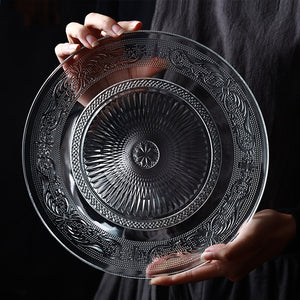 Nordic Embossed Glass Plate