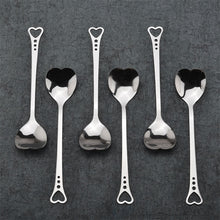 Load image into Gallery viewer, Stainless Steel Spoon Love Heart Shaped