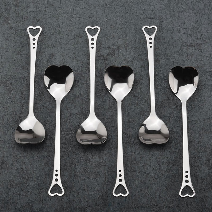 Stainless Steel Spoon Love Heart Shaped