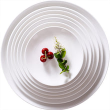 Load image into Gallery viewer, White round ceramic tableware