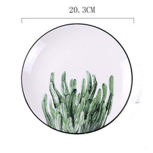 Load image into Gallery viewer, Green Plants Ceramic Plate