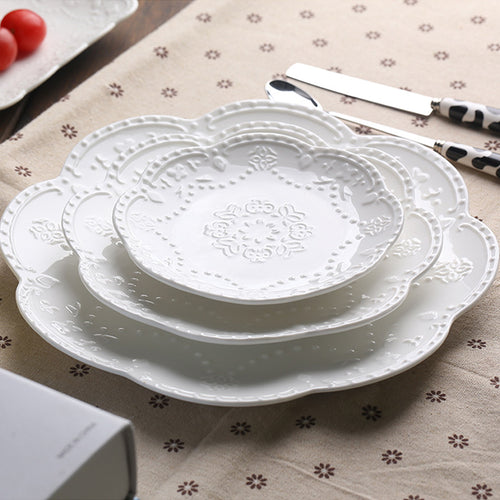 White Lace Bone-China Tableware